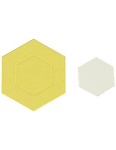 430184 gabarits hexagones Cotton Boll