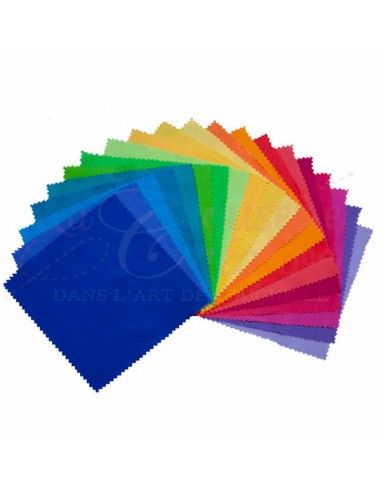 Lot de 20 Charm's (carré de tissu) 100% Coton  - Essentials