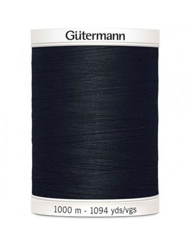 Fil à Coudre 100% polyester 1000m Gütermann - NOIR 000