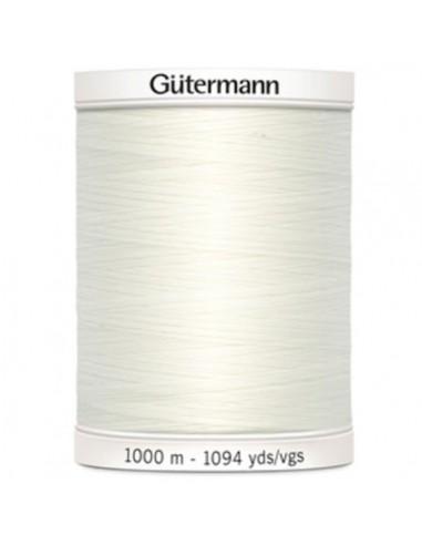 Fil à Coudre 100% polyester 1000m Gütermann - BLANC CASSÉ 111