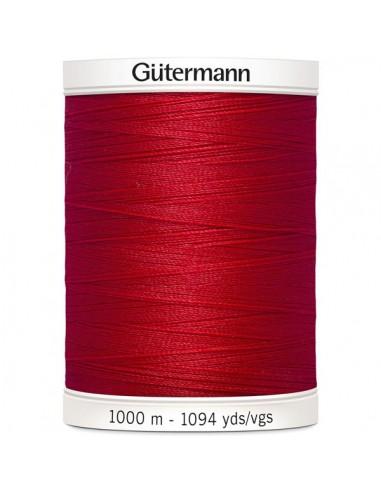 Fil à Coudre 100% polyester 1000m Gütermann - ROUGE 156