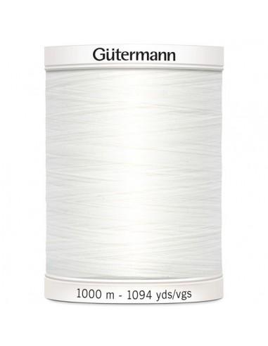 Fil à Coudre 100% polyester 1000m Gütermann - BLANC 800