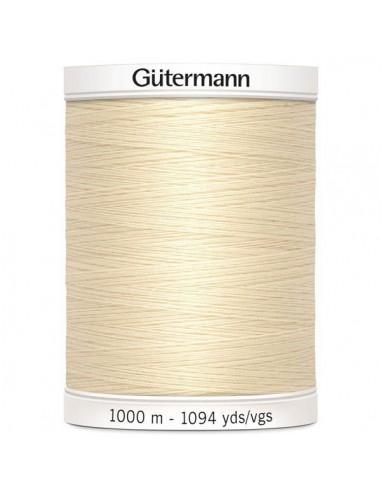 Fil à Coudre 100% polyester 1000m Gütermann - ÉCRU 802