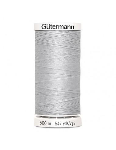 Fil à Coudre 100% polyester 500m Gütermann - GRIS CLAIR 8