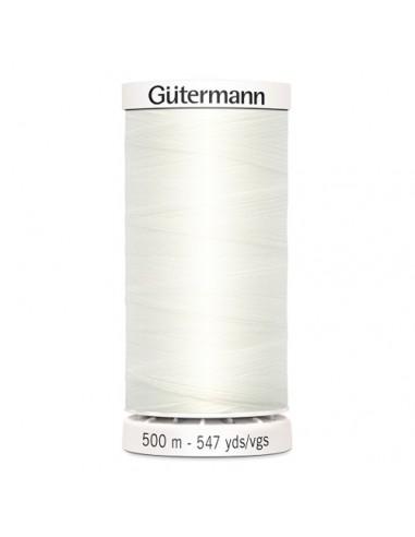 Fil à Coudre 100% polyester 500m Gütermann - BLANC CASSÉ 111