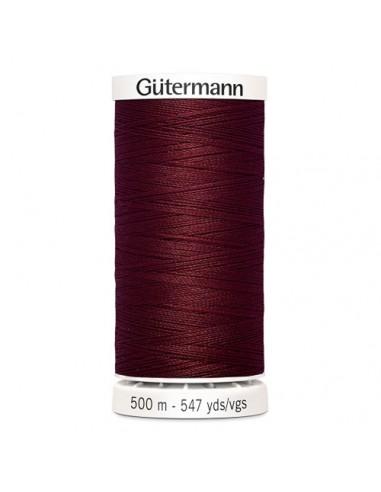 Fil à Coudre 100% polyester 500m Gütermann - BORDEAUX 368