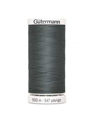 Fil à Coudre 100% polyester 500m Gütermann - GRIS FONCÉ 701