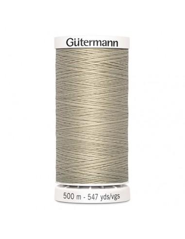 Fil à Coudre 100% polyester 500m Gütermann - BEIGE MOYEN 722