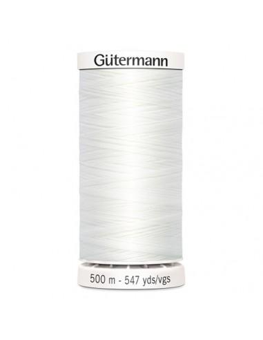 Fil à Coudre 100% polyester 500m Gütermann - BLANC 800