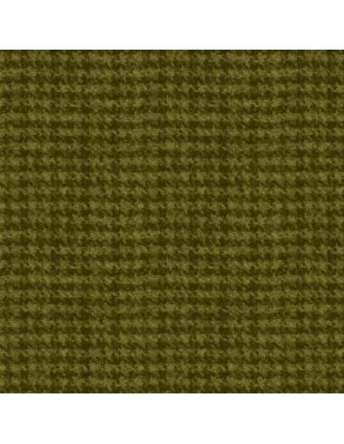 "Flanelle ""Woolies Flannel"" de Maywood Studio - Pied de Poule Kaki"